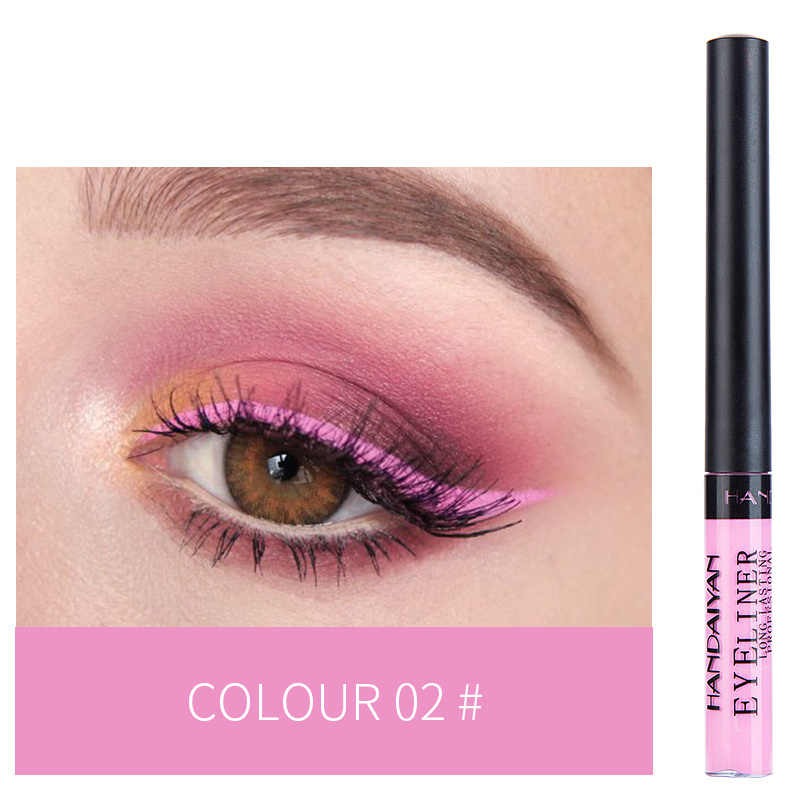HANDAIYAN 12 kolor wodoodporny matowy kosmetyki do oczu cień Eyeliner długotrwały seksowny uroczy Eyeliner Pen Hot TSLM1