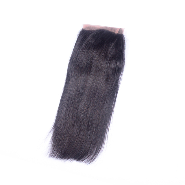 Alidoremi Brazilian Straight Hair Non-Remy Hair 13×4 Ear To Ear Lace Frontal Closure Natural color 100% Human hair weave