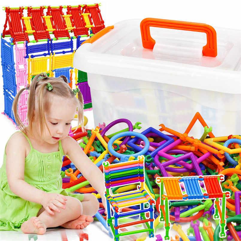 500 шт./компл. Пластик Блоки строительные игрушки набор смарт-Волшебная палочка сборка вставки блок игрушки для детей ящик для хранения