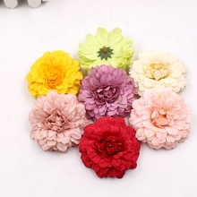 Decorative Flower Marigold Artificial Ornament Simulation Silk Wedding 5pcs Diy-Hat Party
