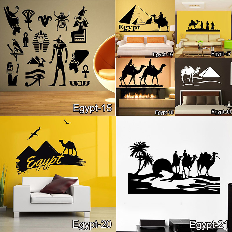 egypt vinyl wall vinyl decal egyptian god anubis protector mural art