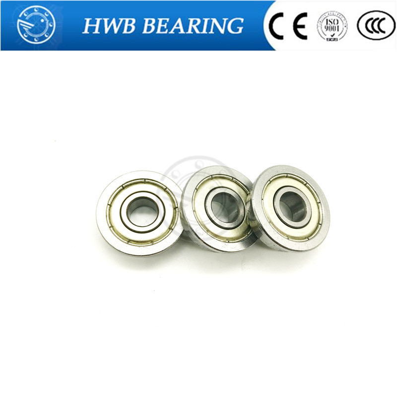 F6801ZZ ABEC-1 (10PCS) 12x21x5MM Flanged Ball Bearings