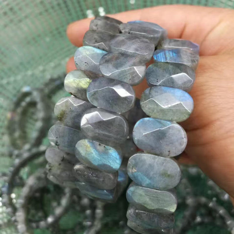 natural rainbow Labradorite bracelet natural GEM stone bracelet DIY jewelry for woman for gift free shipping wholesale !
