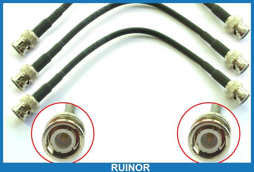 20 шт. BNC мужчинами подключения кабелей двойной прямой обжимные RG58 разъем