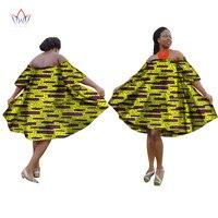 BRW 2017 Yaz Afrika Kadınlar için Artı Sizel Blazer Elbise Dashiki Elbise Straplez Gevşek Seksi Aline Elbise Rahat Giyinmiş WY1571
