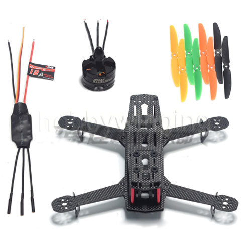 DIY 3K Carbon Fiber Mini Quadcopter QAV250 FPV Drones Frame Kit+Original EMAX mt2204+BLHeli 12A ESC+LJI 5030 Propeller 16pcs 8 pairs 10 blade propeller 1045 brushless motor for qav250 dron drones drone frame parts kit fpv quadcopter frame