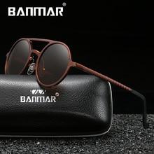 BANMAR Brand Unisex Retro Aluminum Magnesium Sunglasses Polarized Lens Vintage Eyewear Accessories Sun Glasses For Men/Women