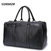 VORMOR Brand PU Leather Handbags For Men Large Capacity Portable Shoulder Bags Men S Fashion Travel
