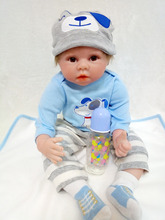 new arrival toys for girls silicone reborn dolls boys babies 55cm 2019 new year gift children 22inch lifelike doll free shipping 22inch 55cm silicone full body reborn dolls lifelike baby boys newborn fashion doll christmas gift new year gift