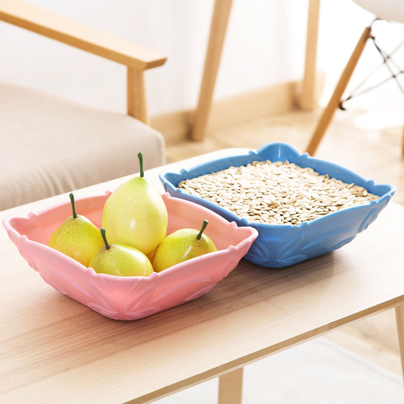Большой пластина толщиной конфеты блюда Главная журнальный столик фрукты творческий пластиковые сушеные фрукты