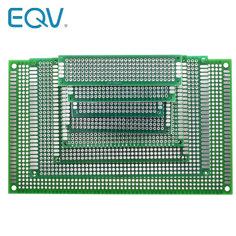 9x15 8x12 7x9 6x8 5x7 4x6 3x7 2x8 cm Double Side Prototype Diy Universal Printed Circuit PCB Board Protoboard For Arduino