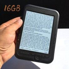 16 Гб встроенная емкость 6 дюймов электронная книга ридер e-ink Поддержка micro SD карты расширение защита глаз электронная книга Встроенный литий-ионный аккумулятор