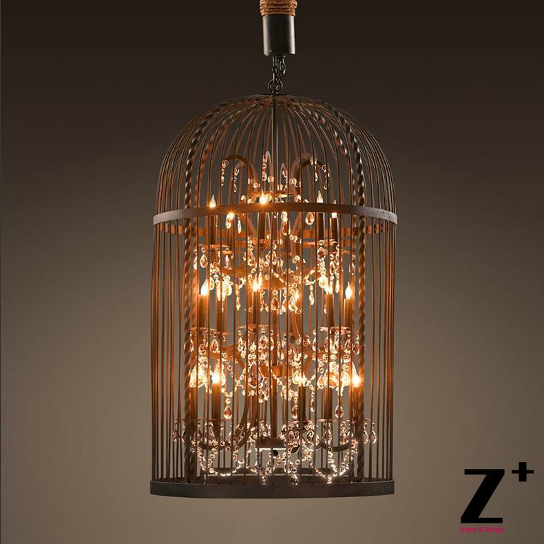 Replica Item American Style Vintage Bird Cage Re Crystal Chandelier Retro Lighting Color Could Be Customized In Pendant Lights From