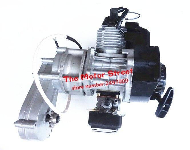 49cc 2 suwowy silnik z rozrusznikiem elektrycznym + kabel przepustnicy comp silnika MINI QUAD rakieta motorynka miniquad do łańcucha marki nowy