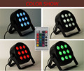 4 pieces Wireless Remote Control LED Par 9x12W 4in1 RGBW LED Stage Light LED Flat SlimPar Quad Can With DMX512 Flat DJ