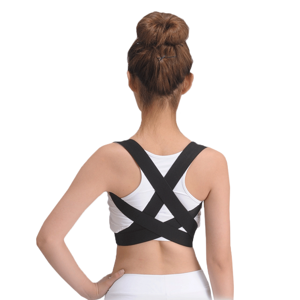 Espalda elástica hombro postura corrector ortesis soporte cifosis slouch  habitual jorobado cinturón hombres mujeres 932cd5e8e84d