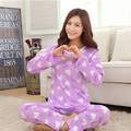 Woman Pajama Sets Long Sleeve women Sleepwear Autumn and Winter Cartoon Pyjamas Mujer ladies Home wear Clothes Wholesale