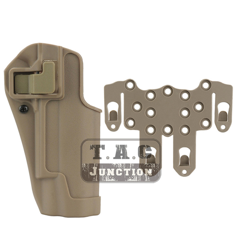 Tactical CQC Serpa Concealment Right Hand Quick Pistol Holster Gun Case with STRIKE MOLLE Platform for Colt 1911 M1911Tactical CQC Serpa Concealment Right Hand Quick Pistol Holster Gun Case with STRIKE MOLLE Platform for Colt 1911 M1911