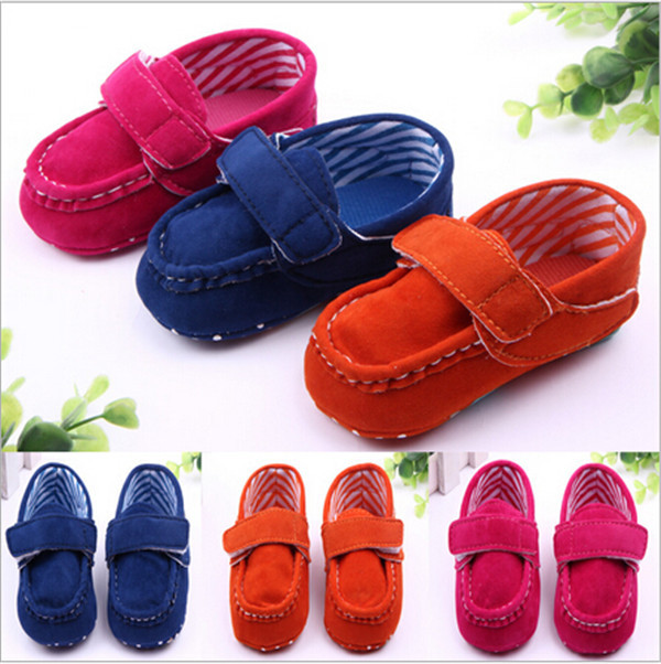 2015 Fashion Baby Shoes First Walkers Toddler Infants Soft Sole Antislip Shoes Baby Boys Girls Solid Prewalker Shoes Sneakers