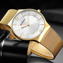2018 New Curren Men Quartz Watch Top Brand Luxury Gold Stainless Steel Business Mens Watches Male Sport Clock Relogio Masculino new top brand curren luxury mens watches male clocks sport military clock stainless steel strap quartz business men watch gift