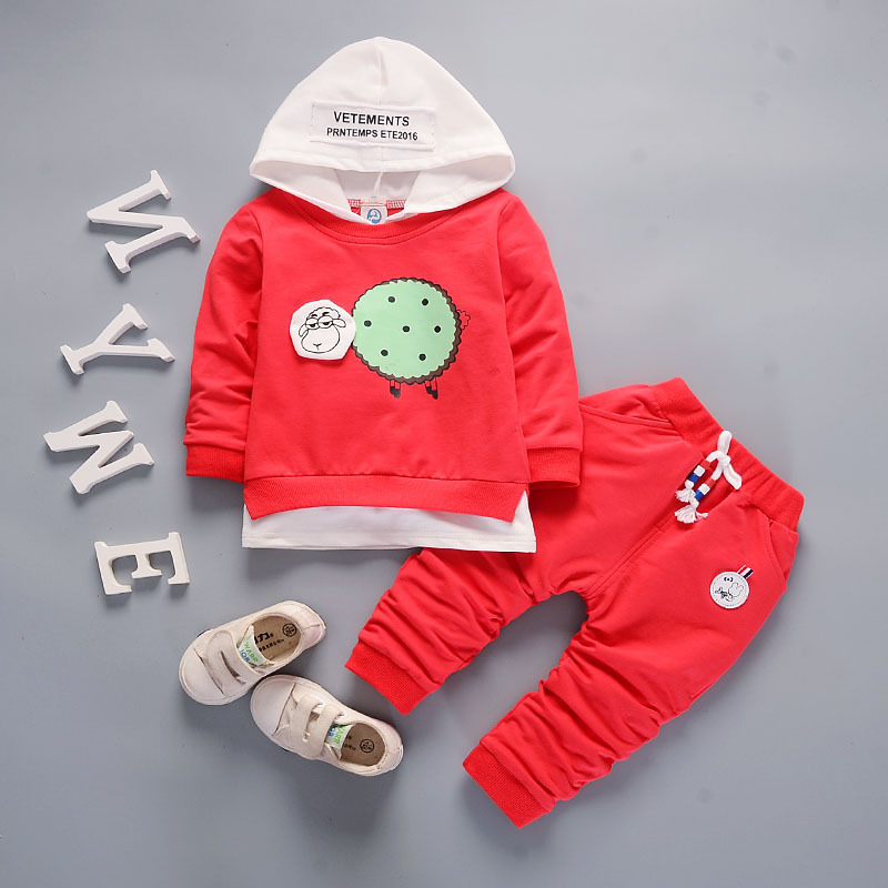 DIIMUU Hot Fashion Toddler Baby Boys Girls Casual Clothing Children Infant Clothes Sports Hoodies Cotton Tops Kids Outfits Sets