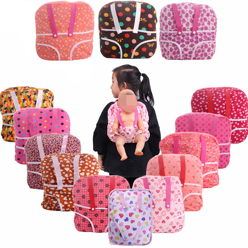 LUCKDOLL Outdoor Carrying Doll Backpack  Fit 43cm Baby Doll Clothes Accessories GirlsToys Generation Birthday Gift