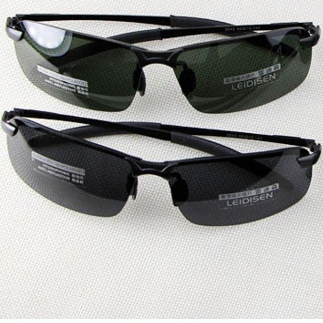 5c3c81d20c Hombres moda UV400 HD polarizadas medio borde gafas de sol hombres  conducción gafas exterior gafas de