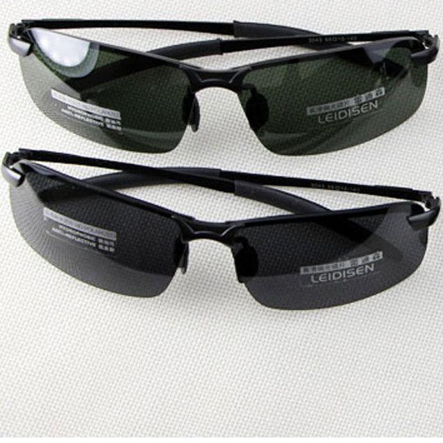 Moda UV400 de HD metade Rim óculos polarizados homens condução óculos de sol óculos de esportes ao ar livre para homens com caixa 3043