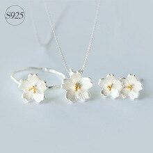 NEW Sakura Flower 925-sterling-silver Resizable Ring | Korean Fashion Cherry Blossom Jewelry Ring & More Sterling-silver-jewelry