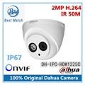 Новое Прибытие Dahua DH-IPC-HDW1225C ИК HD 1080 P Безопасности 2-МЕГАПИКСЕЛЬНАЯ Ip-камера H.264 IP67 Видеонаблюдения Сетевая Купольная Камера Поддержка Onvif