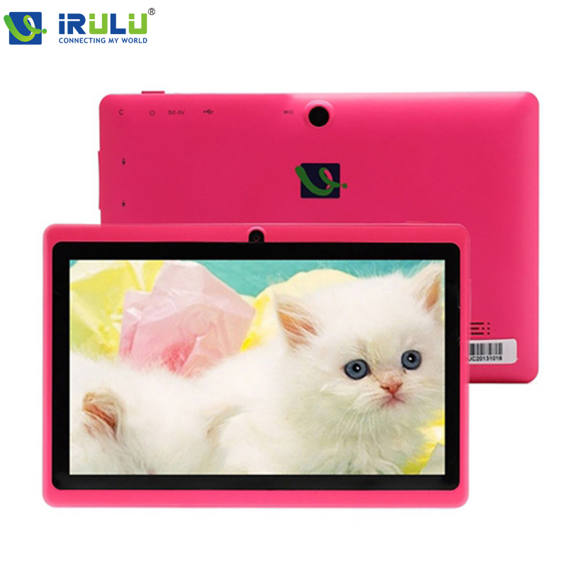 iRULU eXpro Tablet  X1 7 1024*600 HD Tablet PC Allwinner A33 1.5GHz Quad Core Dual Cameras Android 4.4 8GB ROM Wifi Pink irulu expro x1 7 tablet pc allwinner a33