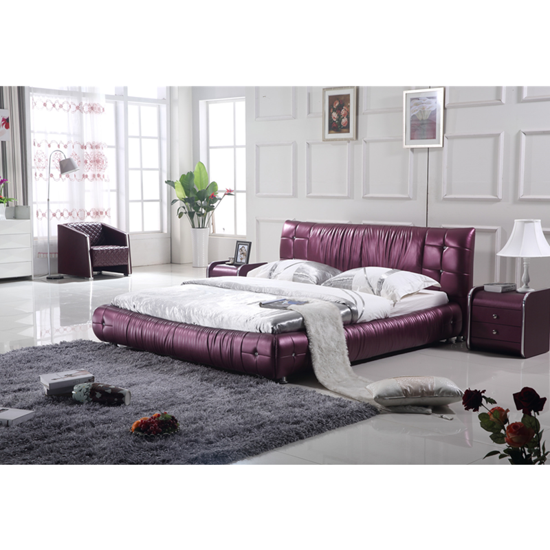 €822.68 |Mobilier de chambre à coucher moderne italien Double Simple Design  lit en cuir-in Ensembles chambre à coucher from Meubles on AliExpress