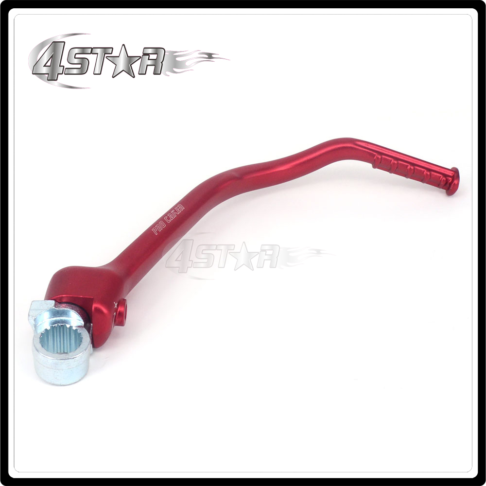 Motorbike Red Forged Kick Start Starter Lever Pedal Arm For HONDA CRF450R CRF 450R 2012 2013 2014 2015 2016 2012-2016 green forged kick start lever starter for kawasaki kx250f 2013 2014 2015 2016 kx250 f kx 250f new