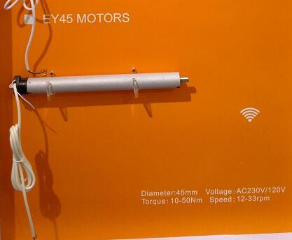 Casa inteligente AC 230 V 45mm Tubular Motor persianas Cortinas Motorizadas Cortinas Levantamiento Automático de Control Remoto Inteligente