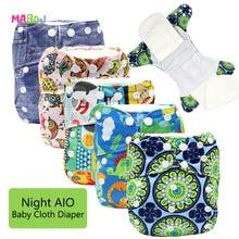 MABOJ детские пеленки для сна ткань пеленки все в одном ткань пеленки Многоразовые AIO сшитые вкладыши один размер регулируемый подгузник водонепроницаемый