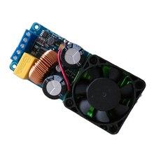 Лучшие предложения, одноканальный цифровой усилитель IRS2092S 500 Вт, класс D, усилитель мощности Hi Fi, плата с вентилятором