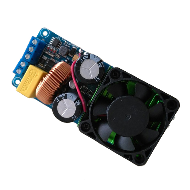 Top Deals IRS2092S 500W Mono Channel Digital Amplifier Class D HIFI Power Amp Board With FAN