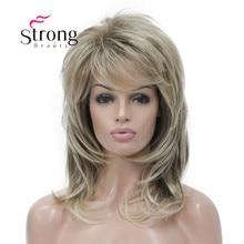StrongBeauty طويل أشعث الطبقات أومبير شقراء الكلاسيكية كاب كامل شعر مستعار اصطناعي المرأة الباروكات اللون الخيارات