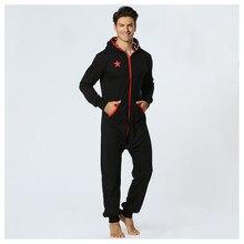 0367c49547f99 Centuryestar Hommes Onepiece Pyjamas Onesie Sommeil Salon de Vêtements De  Nuit D une Seule Pièce Pyjamas Mâle Grenouillères Capu.