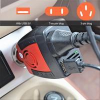 Auto Power Inverter USB 2.1A 75w DC 12V AC 220V 50HZ Konverter Adapter Mit Zigarette Leichter auto Ladegerät Für Telefon Laptop-in Auto Wechselrichter aus Kraftfahrzeuge und Motorräder bei