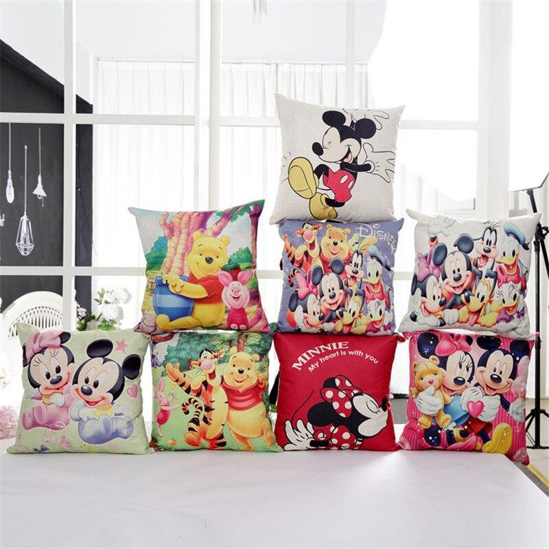 Disney mickey&minnie decorative pillow cases 2pcs a pair