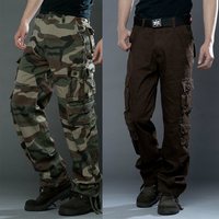 New Men Camouflage Pants Military Style Trousers Camo Tactical Cargo Combat Multi-Pocket Pants Special Soldier Troops Camo Pants