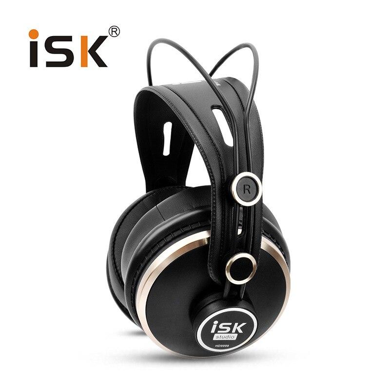 Genuine ISK HD9999 Pro HD Monitor Headphones Fully Enclosed Monitoring Earphone DJ Audio Mixing Recording Studio