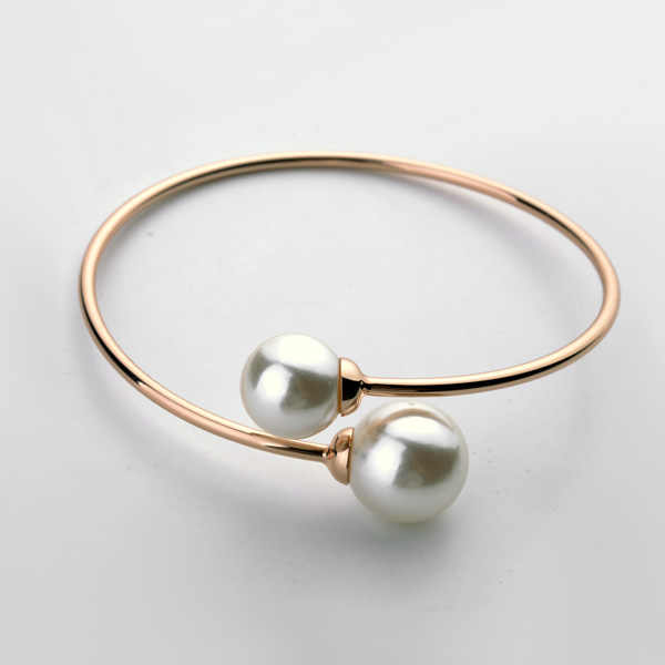 New Sale Brand TracysWing Bangle for Women  Pearl Rose Gold Color Bangle Anti Allergies   #RG31787Rose