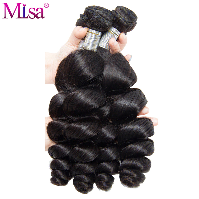 Mi lisa brazilian loose wave hair extensions 1 piece human hair mi lisa brazilian loose wave hair extensions 1 piece human hair weave bundles remy hair natural pmusecretfo Image collections