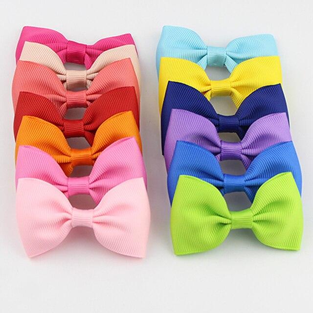 Мода аплодисменты конфеты заколки дети Bowknots Твердые ленты зажим для волос с бабочкой для девочек Для женщин заколки аксессуары HCGY0002