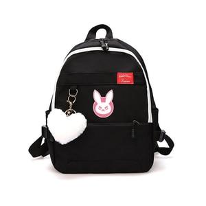Image 3 - Oyun OW DVA Harajuku Naylon Sırt Çantası Kadın seyahat sırt çantaları Şık okul öğrenci çantası Paketi Genç Laptop Omuz Seyahat Çantaları