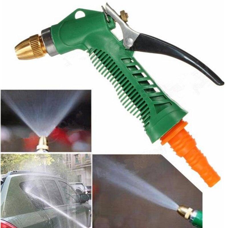 Metal Hose Nozzle High Pressure Water Spray Gun Sprayer Garden Auto Car Washing 25ft car wash pipe 7 in 1 spray gun modes garden hose durable latex 3 times expandable for cars washing garden watering home