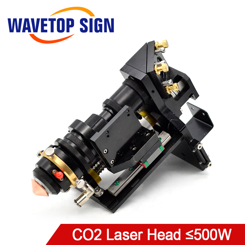 WaveTopSign Mixed CO2 Laser Cut Head 500W Focus Lens 25*63.5 25*101.6mm Reflect Mirror 30*3mm Metal Non-Metal Hybrid Auto Focus