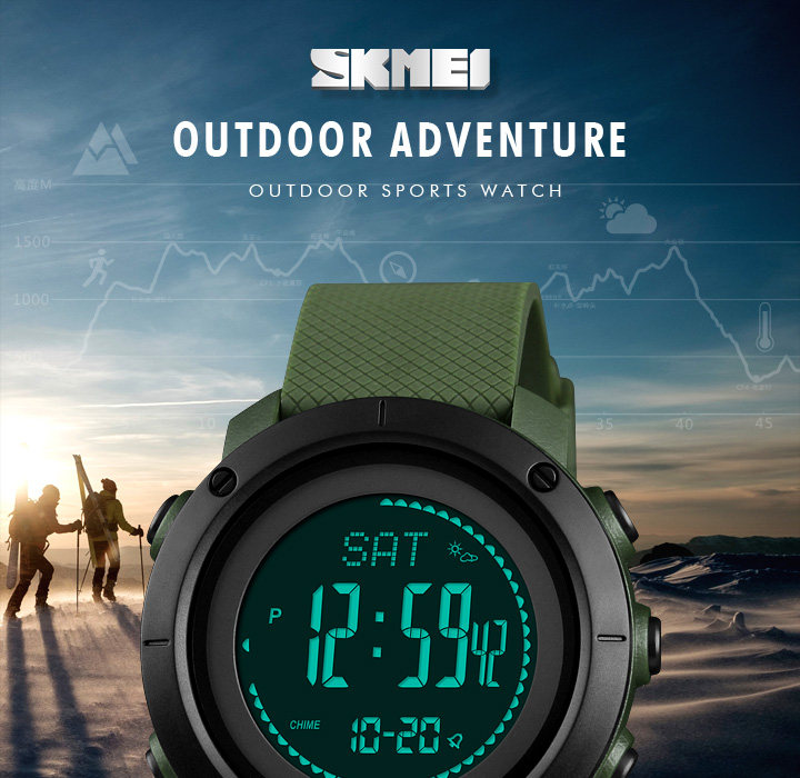 Honest Sports Watches Men Pedometer Calories Digital Watch Women Altimeter Barometer Compass Thermometer Skmei Weather Reloj Hombre Men's Watches